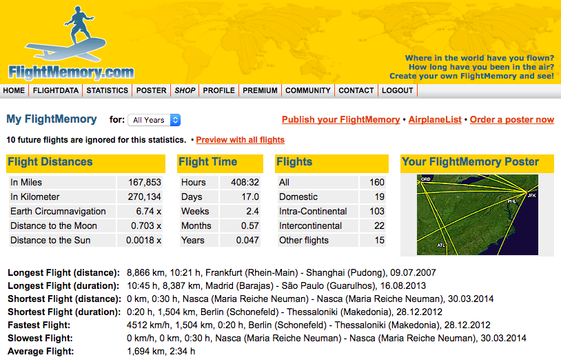 flightmemory.com: Map